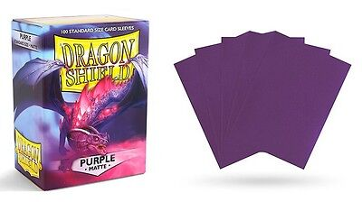 Dragon Shield - Mat Purple 100 protective Sleeves Cases Standard Card holder