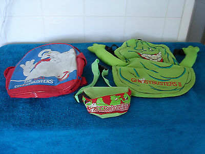 The Real Ghostbusters Backpack & Ghostbusters 2 Backpack & Bum Bag