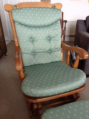 Nursery Rocking Chair And Rocking Footstool