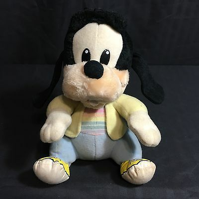 Vintage Goofy Disney Baby Playskool Plush Toy 7 Inch 1984