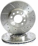 Drilled & Grooved Front Brake Discs for Ford Fiesta 1.0 Ecoboost 140bhp 05-14->
