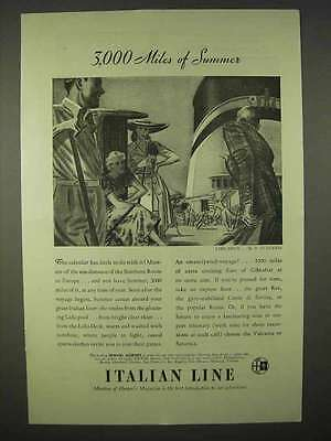 1937 French Line Cruise Ad - 3,000 Miles of Summer