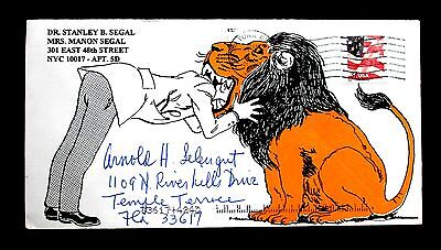 "US Stamp Sc #3635 on Excellent Commercial Cover 2002 ""Doctor & Lion"""