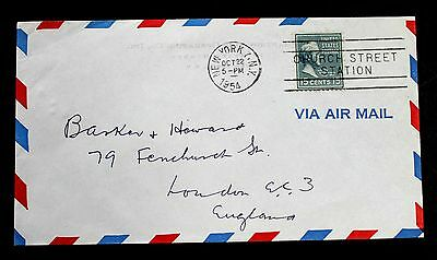 U.S. Stamp Sc #820 on International Air Mail Cover to England