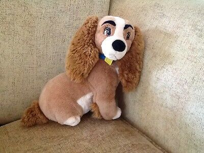 """Lady Plush Figure From Disney's Lady And The Tramp 25cm DOG Cuddly  10"""" TOY"""