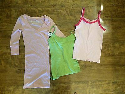 New Aeropostale Women's Juniors Lot Of 3 Tops Cami Size XS Pink Green NWT