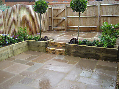 Royale Stones, Autumn Brown Premium Indian Sandstone Paving - 19 M2 Pack