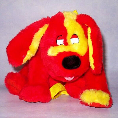 "TWEENIES DOODLES THE DOG 12"" PLUSH RED BACKPACK BAG Soft Toy Rucksack HASBRO VGC"