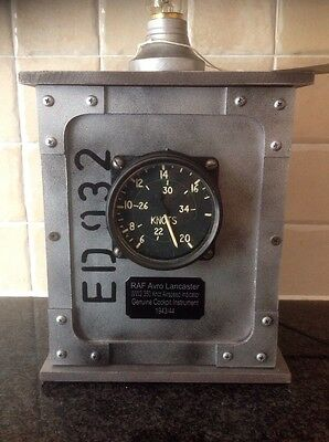 WW2 RAF Avro Lancaster 1943 Cockpit 350 Knot Air Speed Indicator in Edison Lamp