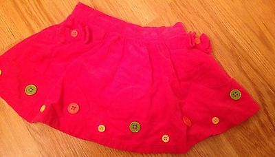 Baby Girl Skirt Pink With Buttons Size 18-24 Months