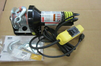 Dayton 5W659A Electric Winch 1/2 Hp 115 Volt 1000 Lb 45 Ft Cable