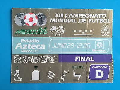World Cup 1986 FINAL Ticket Argentina vs West Germany