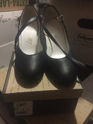 """WOMEN'S Character Dance Shoes 2"""" heel Leo's #908 Leather BLACK sizes 4-5.5, 11M"""