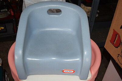 Vintage Little Tikes Childrens Kids Light Blue Plastic Booster Seat GUC