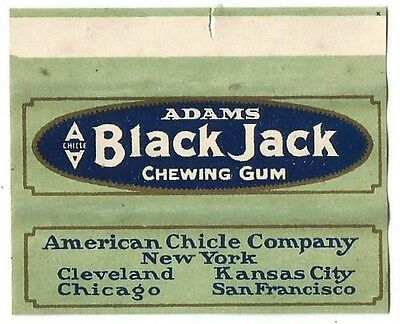 !!EXTREMELY RARE!!! Vtg 1910's American Chicle Adams Black Jack Chewing Gum Wra