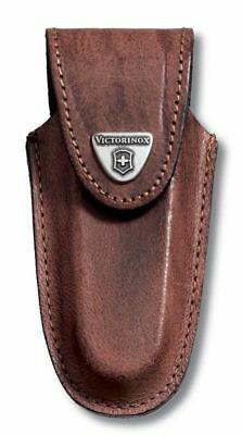 4.0537 Victorinox Swiss Army Knife Brown Genuine Leather Pouch 111 mm 2-3 Layers