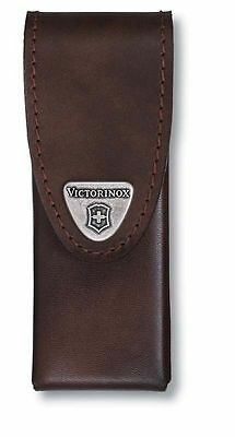🌟 4.0822.L VICTORINOX SWISS ARMY KNIFE BROWN LEATHER POUCH for Swisstool Spirit