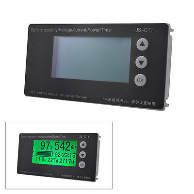 Battery Tester Voltmeter Ammeter Capacity Coulometer Counter 8-65V 150A BI668