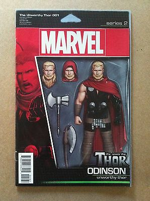 """Unworthy Thor #1 """"odinson"""" Action Figure Variant Cover Nm 1St Printing 2016"""