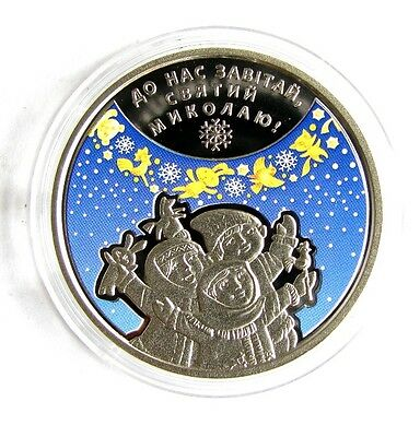 UKRAINE 2016 5 HRYVNIA * 5 UAH ST. NICHOLAS'S DAY, NICKEL COIN Colored UNC