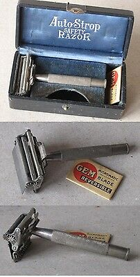 Antique Safety Razor Set Valet Autostrop