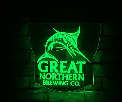Great Northern Beer LED Remote Control Edgelit Sign