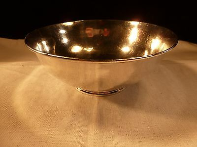 Craftsman A Stone Hammered Sterling Silver Bowl David Carlson Jean Treadway 1918