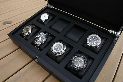 Watch Box - Wood Watchbox for 8 watches - Large Spaces for Panerai - EU shipping