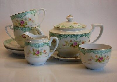 NORITAKE JAPANESE PORCELAIN 8 pc TEA SET. Excellent Condition.