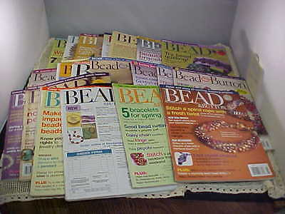 Bead and Button Magazine Back Issues Lot of 21 Total Various Years