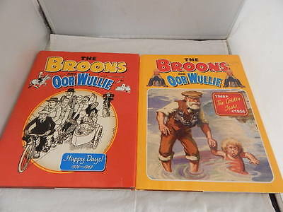 The Broons and Oor Wullie ~ Happy Days & The Golden Years ~ 2 x  Annuals ~ H/bk