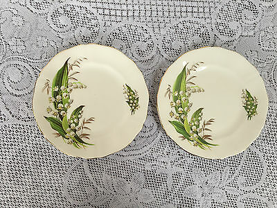 "2 Adderley 'Lily of the Valley' 6 1/4"" Bread & Butter Plates (137)"