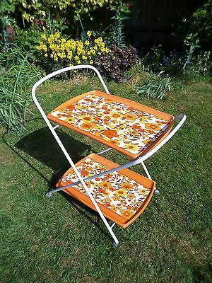 Vintage Retro Folding Serving Drinks Cocktail 70's Trolley Oojamaflip