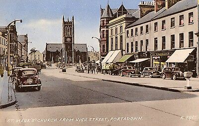 St. Mark's Church From High St Portadown Armagh Ireland Valentines Postcard