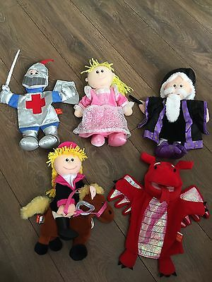 5x Tellatale Hand Puppets By Fiesta Crafts Ltd