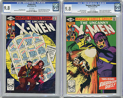 1981 X-Men 141 & 142 CGC 9.8 White Pages