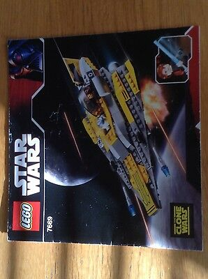 Lego Star Wars 7669 Anakins Jedi Starfighter -  instructions only - free post