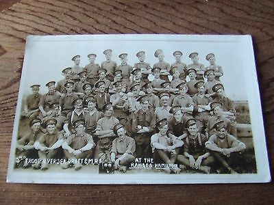 W.war.1.  Canadian Mounted Rifles.   Photographic Postcard.  Unit Identified.