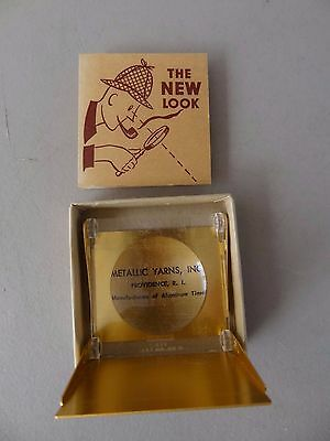 "Vintage Folding Stamp Magnifier with Original Booklet, ""The New Look"""