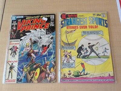 DC presents strangest sports issue # 9 & Viking Prince issue # 12
