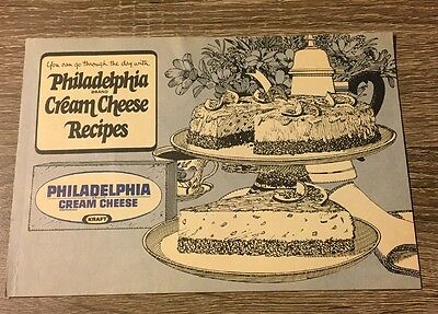 Vintage Philadelphia Brand Cream Cheese Recipes- Illustrated Booklet