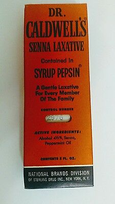 Dr. Caldwell's Senna Laxative-Syrup Pepsin-N.O.S-Complete in Box