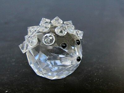 Vintage Handcut Crystal beady HEDGEHOGS with Black Beady Eyes ,Mint in box