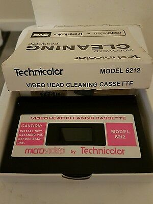 Technicolor video head cleaning cassette CVC