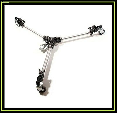 Manfrotto 181 Folding Auto Dolly For Twin Spiked Metal Feet Tripods, Silver