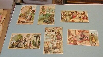 1893 Arbuckle Brothers Coffee 6 Victorian Trade Cards Wisconsin Indians Hawaii