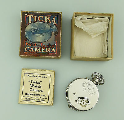 Antique Photography : RARE novelty Houghton Ticka Watch Camera C.1906