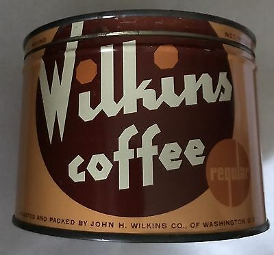 1Lb Wilkins Keywind Coffee Tin Can Correct Top Lid Great Find