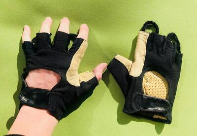 !BRAND NEW! Hiking and Workout Leather Padded Fingerless Gloves!