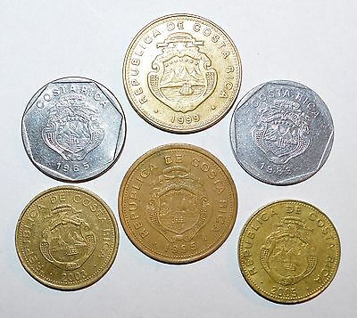 1983 - 2005 COSTA RICA 100 25 5 COLONES large coins lot world foreign B.C.C.R.